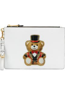 Moschino Circus Teddy Clutch - Branco