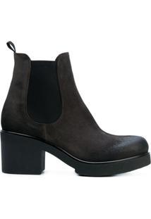 Strategia Ankle Boot De Couro - Cinza