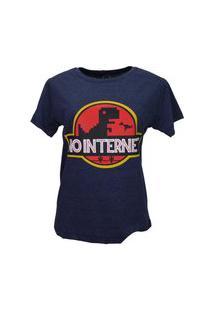 T-Shirt No Internet Azul Marinho