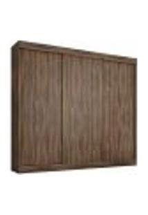 Guarda Roupa Monza 3 Portas De Correr Café Wood