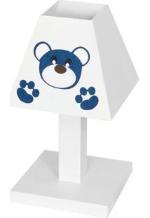 Abajur Dã´Da Baby Urso Imperial Azul Marinho Mdf - Azul Marinho - Masculino - Dafiti