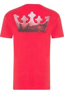 Camiseta Big Shirt Coroa Xilo - Vermelho