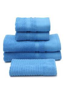 Jogo De Banho 5Pçs Buddemeyer Windsor Azul