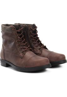 Bota Coturno Couro Walkabout Strong Masculina - Masculino-Marrom
