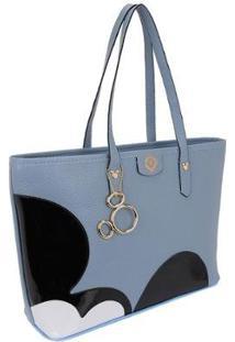 Bolsa Sacola De Ombro Selten Feminina - Feminino-Azul Claro