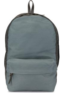 Cabas Large Textured Backpack - Azul