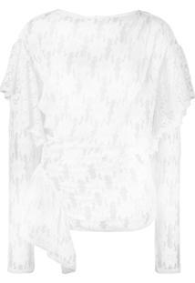 Isabel Marant Étoile Blusa Envelope Floral - Branco