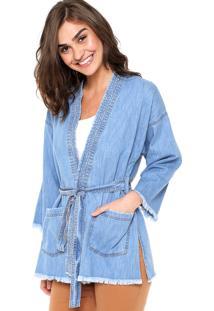 Kimono Colcci Jeans Azul