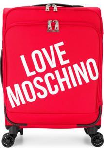 Love Moschino Mala Com Estampa De Logo - Vermelho