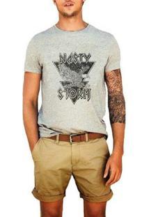 Camiseta Nasty Storm - Masculino-Cinza