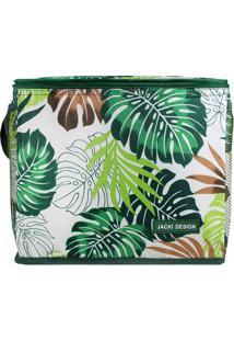 Bolsa Térmica Folhas - Branca & Verde - 24X21X27Cmjacki Design