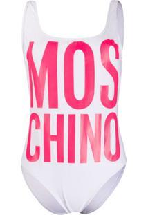 Moschino Roupa De Banho Com Estampa De Logo - Branco