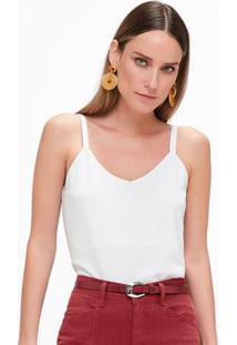 Blusa Branca Metalizada