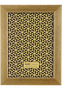 Porta Retrato Mart Decorativa Dourado Escovado