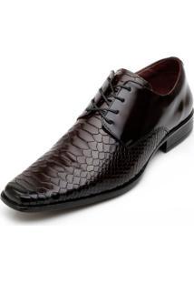 Sapato Social Promais 0360 Co Vinho