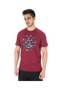 Camiseta Rusty Camo - Masculina - Vermelho