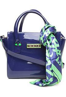 Bolsa Petite Jolie J-Lastic Love Bag Feminina - Feminino-Azul+Verde