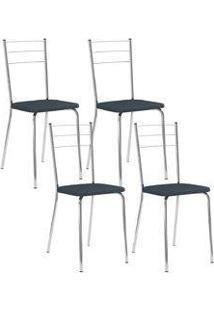 Cadeira 1703 Cromada 04 Unidades Jeans Carraro