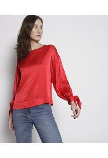 Blusa Lisa Acetinada - Vermelhalevis
