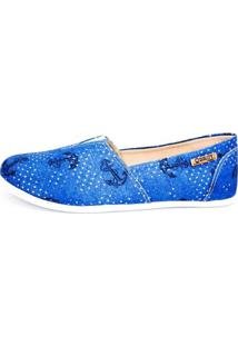 Alpargata Quality Shoes Âncora Feminina - Feminino-Azul