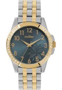 Relógio Condor Top_Fashion Feminino - Feminino-Prata+Dourado