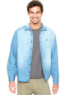 Camisa Forum Estonada Jeans Azul