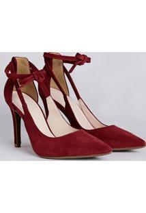 Sapato Scarpin Feminino Bebecê Bordô