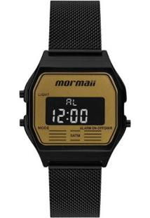 Relógio Mormaii Vintage Feminino - Feminino-Preto