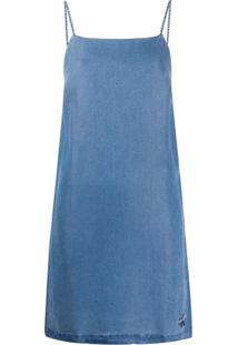 Calvin Klein Jeans Vestido Jeans Com Lavagem - Azul