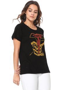 Camiseta Ellus Free Spirit Preta