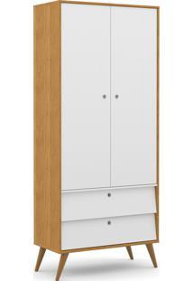 Roupeiro 2 Portas Gold Freijó/Branco Soft/Eco Wood Matic Móveis