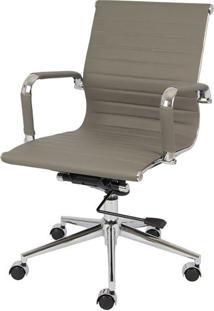 Cadeira Office Eames Esteirinha Baixa Giratória Or-3301 – Or Design - Cinza