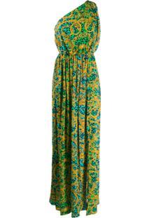 Versace Jeans Couture Leo Chain Print Maxi Dress - Verde