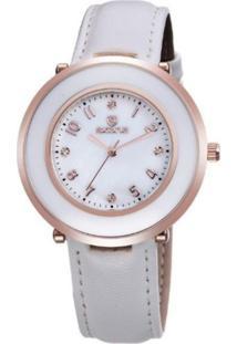 Relógio Skone Analógico 9293 Branco