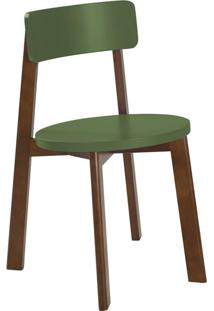 Cadeira De Jantar Lina Cacau E Verde Musgo