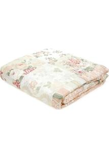 Kit De Colcha Queen Com Porta Travesseiros Andrezza Bege