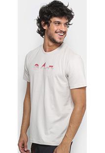 Camiseta Lost Right Brigade Masculina - Masculino-Marrom Claro