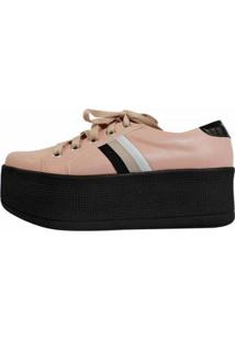 Tênis Damannu Shoes Jessie Feminina - Feminino-Rosa+Preto