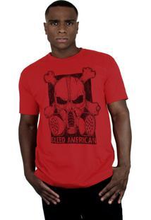 Camiseta Bleed American Gas Mask Vermelha