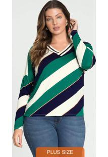 Blusa Malha Viscose C/Elastano Verde