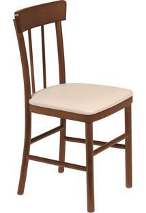 Cadeira Viena Tramontina 14020131 Danúbio Amêndoa Estofado Bege