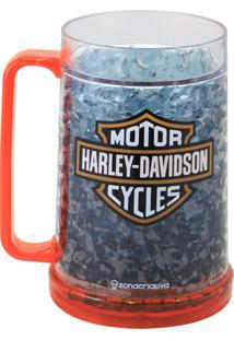 Caneca De Chopp Gelo Harley Davidson Zona Criativa