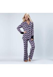 Pijama Joge Longo Aberto Multicolorido