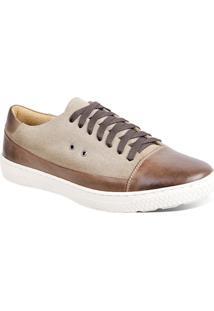 Sapatênis Masculino Sandro Moscoloni Sneaker Marrom/Bege
