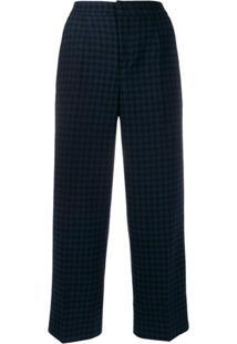 Woolrich Calça Com Estampa Xadrez - Azul