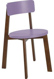 Cadeira Lina 75 Cm 941 Cacau/Lilás - Maxima