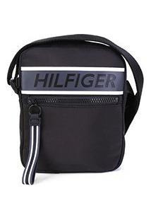 Bolsa Shoulder Bag Tommy Hilfiger Mini Reporter - Masculino-Preto