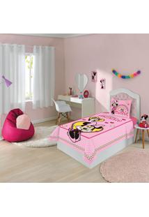 Jogo De Cama Infantil Solteiro Lepper Minnie 3 Peças Rosa