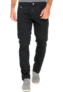 Calça Jeans Triton Pesponto Preto