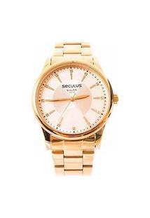 Relógio Feminino Analógico Dourado Seculus - 28654Lpsvda2K1 Dourado